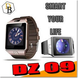 Wholesale DZ09 Smartwatch Bluetooth Smart Watch dz handfree For android iphone GT08 A1 sim support Cellphone inch SIM Card sleep reminder