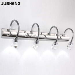 Wholesale 2016 Nobel Crystal Led Bathroom Mirror Light cm cool Warm White stainless Steel Front Wall Lamps v Ac