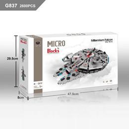 Wholesale GEM Micro Blocks Star wars DIY Building Bricks Spaceship Auction Figures Millennium Falcon Toys D Anime Juguetes Boy Toys G837