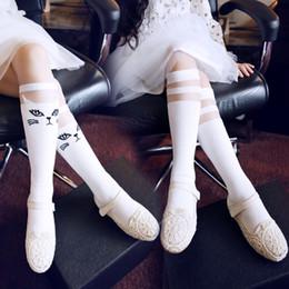 2016 Baby Kids Girls Children Cotton tight legging Cute Princess Stripes High Socks Long Socks Cat Pattern Knee High Socking