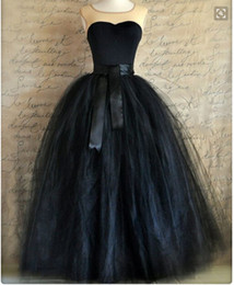 Black Ball Gown Party Skirts Tulle Tutu Layered Fashion Women Long Skirt Floor Length 2017 Summer
