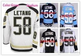 2017 série de hockey New 2016 Stadium Series Pittsburgh Hockey Jerseys # 58 Kris Letang Jersey Blanc 100% cousu Letang Jersey Black Home Sportwear budget série de hockey