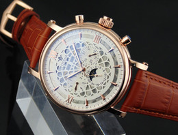 1605 Ossna 44mm White Dial Rose Gold Stainless Steel Case Mechanical Automatic Men's Watch Gift For Men