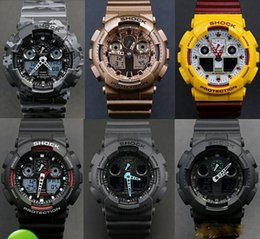 Wholesale Best Quality Relogio G men s sport watches Luxury brand men G watch LED chronograph wristwatch military digital watch All Function