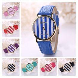 Fashion Geneva gold vertical stripes women watch Quartz Wrist watches,power reserve outdoor sports watches 6 pieces a lot mix color DFMPH2