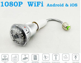 Wholesale Wide range application HD1080P Wifi E27 Bulb Lamp IR CCTV Security Hidden Nanny Camera Recorder DVR for PC Android iOS T88