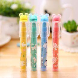 Niños mini lápiz en venta-Al por mayor-1 de las PC lindas de Kawaii del color del caramelo del lápiz labial Mini Multi Top Gomas de borrar lápiz para los niños de la escuela para oficina escritorio de los niños