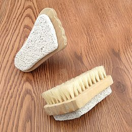 Wholesale Pumice Stone Brush Foot Cares Supply Feet Pedicure Scrubber Natural Rid Callus Skin Care Health Care Pumice Stone Brush