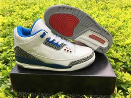 Wholesale Drop Shipping Retro True Blue For Men Basketball Sport Shoes Ship With Box