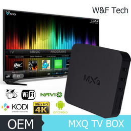 Wholesale MXQ TV Box Quad Core Amlogic S805 Pre installed XBMC Android Kodi Android Smart OTT TV Set Top Box