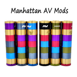 V2 fuhattan en Ligne-Manhattan AV Mods E Cigarette Mods Raibow AV Manhattan Ringer Mod 22mm Diamètre 510 fil VS mods Fuhattan V2