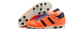 Wholesale Hot Mens Copa Mundial Leather FG Soccer Boots World Cup Soccer Shoes Orange Cleats athletic football shoes botines futbol