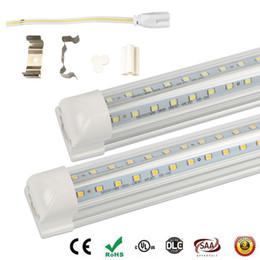 tube 8ft ( tube+base ) integrated LED tube light lamp T8 2400mm 2.4M 8 FT 48W 6000LM SMD LED light tube t8 8 foot