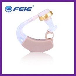 Wholesale Analog Ear Hook Hearing Aid Sound Amplifier Listening Device Ear Amplifier S B Free Dropshipping Ear Care