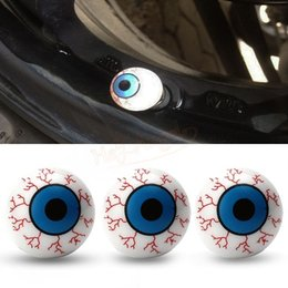 Wholesale GPS Creative Eye Ball Pattern Auto Wheel Valve Air Stem Cap Cover Bike Accessories Tire Screw Dust Plug for Car Truck