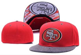 Wholesale New Football Fitted Caps Scarlet HEATHER GRAY DRAFT ON STAGE FITTED HAT Teams All Size Mix Match Order All Caps High Quality Hats
