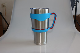 Cups Handle for Bilayer YETI Cups 30OZ Stainless Steel Insulation Mug Cup Cars 3Color Travel Vehicle Beer Rambler Tumblerful hot