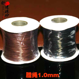 Brown Black wax wire rope 1.0mm string bead material wire rope DIY manual material wholesale