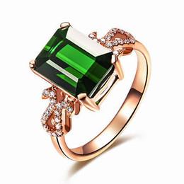 NICE - Bague à diamants en or blanc 14K à partir de bague en or tourmaline verte fournisseurs