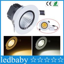 Wholesale Ceiling Light Glare - X20 COB Led Downlights 9W 12W 15W 18W Dimmable Led Recessed Ceiling Lights Anti glare AC 110-240V + Drivers