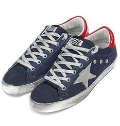 Wholesale Italian Original Deluxe Brand Superstar Golden Goose Blue Men Women GGDB Casual Shoes Lace Up Low Cut Couples Shoes Scarpe Bass