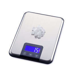 Wholesale 15KG1g Stainless Steel Digital Kitchen Scale Slim KG LCD Electronic Diet Food Touch Grams Scales Weight Balance With Retail Box