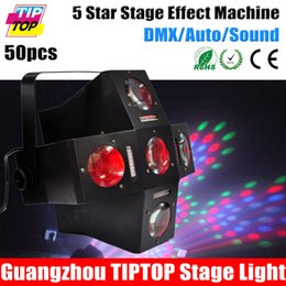 Wholesale TIPTOP Pack Star Stage Effect Machine Black Housing Led Effect Equipment for Party DJ Event Show Channels Iron Case