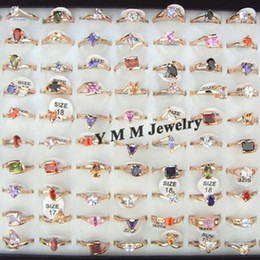 High Quality Real Zircon Rings Women Zircon Jewelry Valentine Day Gift 50pcs lot Free Shipping