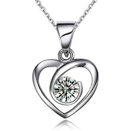 women's fashion jewelry 925 sterling silver jewelry Synthetic Diamond Engagement Wedding Pendants necklace fine bridal Jewelry sets1548