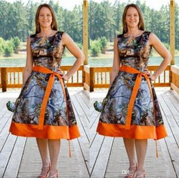 Free Shipping Knee Length Country Style Camo Bridesmaid Dress Camouflage Gowns Short New Styles Custom Make