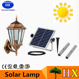Wholesale newly High power LED floodlights Solar outdoor lights super bright warm white light control saving energy high quality
