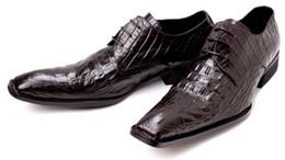 Square toe shoes lace shoes men's business dress shoes men's Office leather low heel plus size shoes black party hot