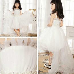 Compra Online Faldas para las muchachas de los niños-Un nuevo niño llevando 2016 nuevo vestido de princesa falda de flores de boda niñas correa de hombro sin mangas de las niñas del vestido