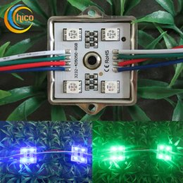 Led module rgb 5050 4LED Module Outdoor DC 2V IP65 Waterproof For Advertising Channel Letter free shipping