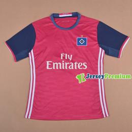 2016 Hamburgo SV Away Pink Fútbol Fútbol Camisetas desde camisetas de fútbol de color rosa fabricantes