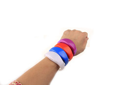 Voice Control LED Silicone bracelet New Year Promotion Gifts Green Red Yellow Blue Light LED Silicnoe Bracelet Vocal Concert Party Suitable