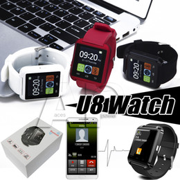 Wholesale Bluetooth Smart Watch U8 Smartwatch U Watch For iOS iPhone Samsung Sony Huawei Android Phones Good as GT08 DZ09 In Gift Box