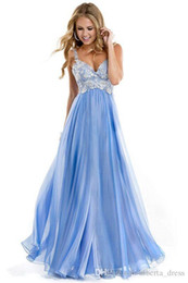 Wholesale 2016 Cheap Country Blue Bridesmaid Dresses V Neck Lace Chiffon Draped Floor Length Wedding Guest Wear Party Dresses Maid of Honor Gowns