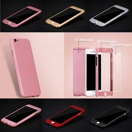 Ultra Thin 360° Full Body Protective Case For Apple iPhone 7 7 Plus 6 6S Plus Samsung Galaxy S7 S6 Tempered Glass BD0149