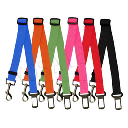 Wholesale Seatbelt Harness - 6 Colors Cat Dog Car Safety Seat Belt Harness Adjustable Pet Puppy Pup Hound Vehicle Seatbelt Lead Leash for Dogs