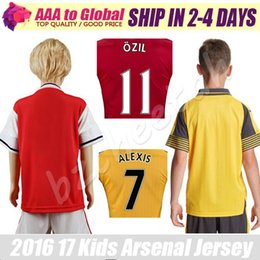 Wholesale Kids Arsenals jersey Football Shirt Ozil Walcott Welbeck Giroud Alexis Sanchez Soccer Jerseys children soccer shirts