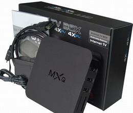 Wholesale 2016 MXQ Android TV Box Quad Core Amlogic S805 Pre installed XBMC Android Kodi Android Smart OTT TV Set Top Box