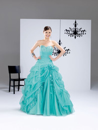 Wholesale Elegant ball gown Young and energetic ball gown Strapless Sweep train Applique Ruffle