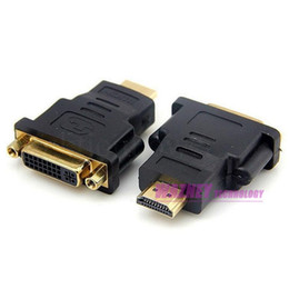 Wholesale DVI D FeMale to HDMI Male Pin Video Graphics Card Converter Adapter p FULL HD Digital Signal HDMI Cable to DVI