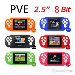 Wholesale 2 inch Bit PVE Digital Pocket Portable Game player Handheld Video Game Console free Game Card Many classic Games with retail package