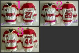 Wholesale Los Angeles Angels Mike Trout rod carew reggie jackson Cheap Baseball Hooded Stitched Old Time Hoodies Sweatshirt Jerseys