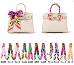 240 Styles Twilly Scarfs Multi-function Ladies Scarf Headband Fashion Handbag Decoration Accessories Twilly Scarf Brand Bow Hair Bands