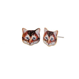 Fashion New express it in Black Cat Sport Stud Earring For participants in Lady Gift, girlfriend, best Gift