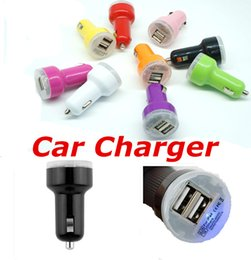 2.1A 2 Port USB Micro Auto Universal Dual Car Charger For IPhone IPad IPod Mini Car Charger Adapter For SamsungS7 S6 Note5