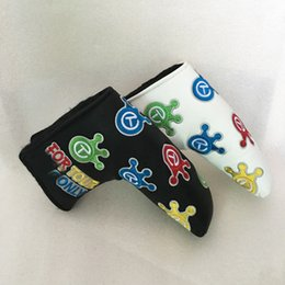 Wholesale New Golf HeadCover High Quality PU Golf Clubs Cover in white black colors Golf putter headcover